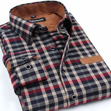 Boze Brand New Long Sleeve Plaid Shirt