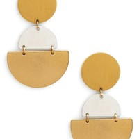 Sole Society Tiered Geo Statement Earrings | Nordstrom