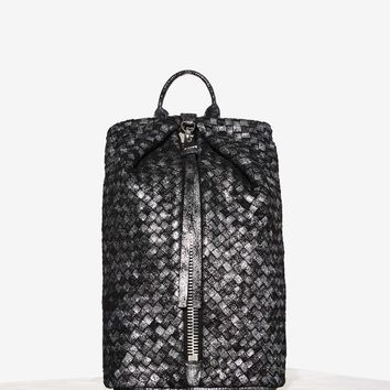 Aimee Kestenberg Woven Through the Six Leather Backpack - Black