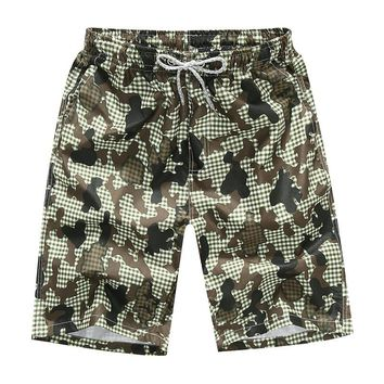 Men's Camouflage Loose Beach Shorts Printing Quick Dry Shorts Surfing Beach Pants Summer 4XL Plus Size Swimming shorts