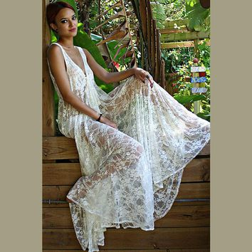 2016 Beachwear Latest Women Sexy White Crochet Lace Maxi Dress Summer Holiday Casual Beach Long Dress Bohemian Maxi Dress E60015