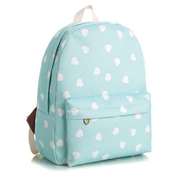 Floral Cute Animal Stripes Lovely Striped Korean Canvas Backpack = 4887602372