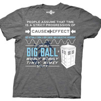 T-shirt Doctor WHO WIBBLY WOBBLY