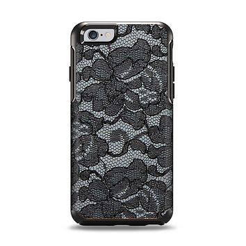 The Black Lace Texture Apple iPhone 6 Otterbox Symmetry Case Skin Set
