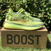 adidas Yeezy Boost 350 V2 Semi Frozen Yellow Running Shoes - Best Deal Online