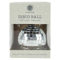 Locker Style™ Silver Disco Ball, LED Light, Magnetic : Target