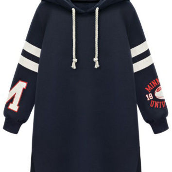 Cupshe Sport Game Hooded Long Sweatshirt