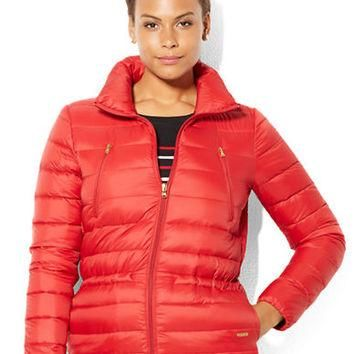 Lauren Ralph Lauren Plus Full Zip Quilted Down Jacket