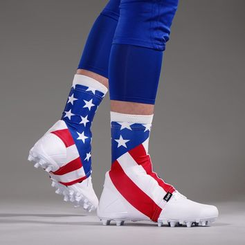 USA America Flag Spats / Cleat Covers