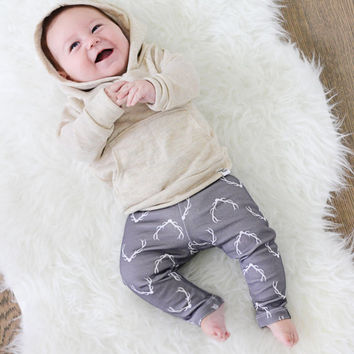 heathered baby hoodie, cowl neck hoodie, french terry hoodie, baby jogger outfit, baby girl sweatshirt, modern baby clothing