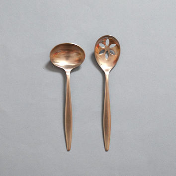 Vintage Dalia Spain Serving Spoons Set of 2