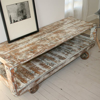 Console Industrial Reclaimed Wood with by CamilleMontgomery