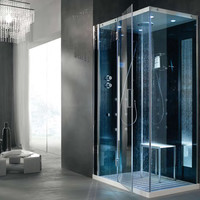 Multifunction shower cabin TEMPO AD ANGOLO Tempo Collection by HAFRO