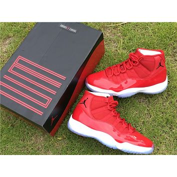 Air Jordan 11 Retro AJ11 All Red Color Nike Sport Basketball Sho 2f68fda713