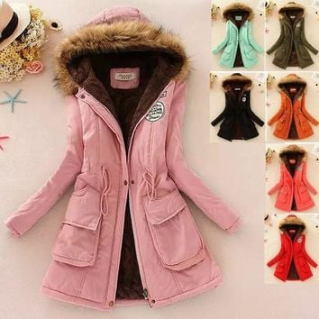 2017 New Long Parkas Female Women Winter Coat Thickening Cotton Winter Jacket Womens Outwear Parkas for Women Winter [8389926657]