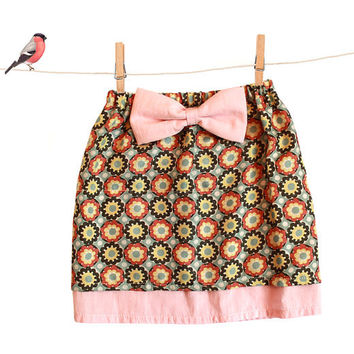 Toddler Skirt Sewing Pattern - girls skirt pattern pdf tutorial for beginners - sizes 6m to 9 years