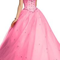 Angel Bride Ball Gowns Quinceanera Evening Dresses Tulle Prom Gowns Long
