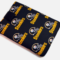 Tablet Case, iPad Cover, Pittsburgh Steelers, NFL, Kindle Cover, iPad Mini Case,Tablet Sleeve, Cozy, Handmade, FOAM Padding, Football Fans