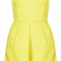 Bandeau Skort Playsuit - Yellow
