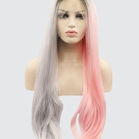 Double Color Synthetic Lace Front Wig