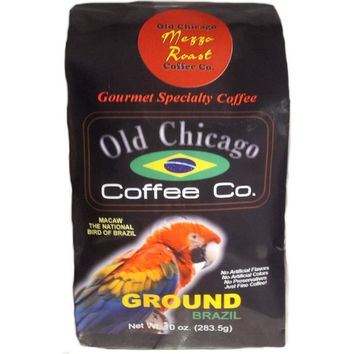 "Brazil ""Mezzo Roast"" Medium Roast Ground Coffee by Old Chicago Coffee Co"