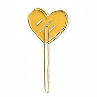 Heart Lolli Pin - Tangerine