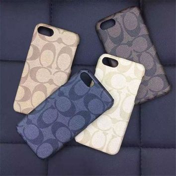 COACH Leather Fashion Cover Case for iPhone
