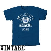 Kentucky Wildcats Vintage Goal Tri-Blend T-Shirt - Royal Blue