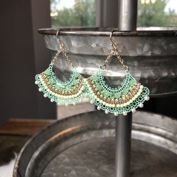Oh Dear Mint Dangle Earrings