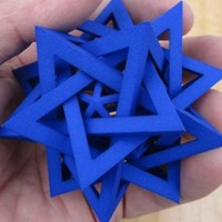 Five Tetrahedra Plus by gibell on Shapeways