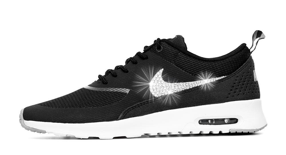 nike air max thea black and white print fabric