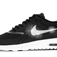 Nike Air Max Thea - Customized With Swarovski Crystals - Black/White
