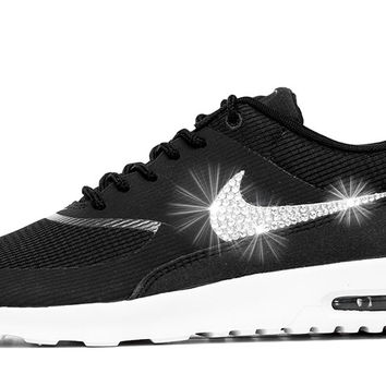 Nike Air Max Thea + Swarovski Crystals - Black/White