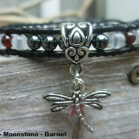 Anti Depression Garnet Power Stone Bracelet - Chan Luu Inspired