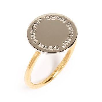 MARC JACOBS Logo Disc Ring | Nordstrom