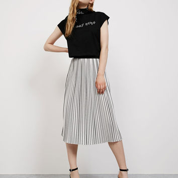 Striped pleated skirt - Skirts - Bershka Germany