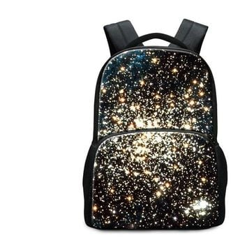 Girls bookbag Dispalang Print Galaxy Patterns on Backpack for Boy Girls Name Brand Satchel for Men Personalized Bookbag for Collect Student AT_52_3
