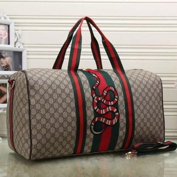 One-nice™ Gucci Women Fashion Leather Embroidery Luggage Travel Bags Tote Handbag H