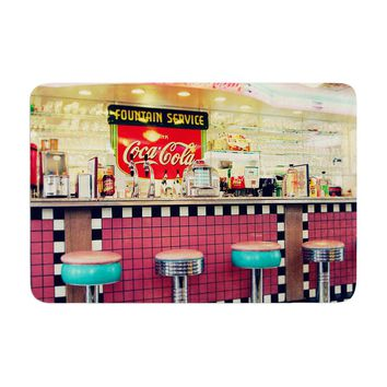 "Sylvia Cook ""Retro Diner"" Coca Cola Memory Foam Bath Mat - Outlet Item"