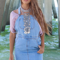 Gone Rogue Denim Overall Skirt