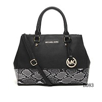 Michael Kors MK Leather Snake Print Handbag Tote Shoulder Bag Satchel