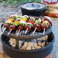 CAMPING grate Stand with Grill Dutch Oven by BlacksmithCreations