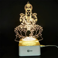 Dimmable 3D Ganesha/Laskhmi LED Touch Sensor Light