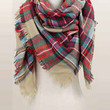 Poppy Plaid Blanket Scarf (4 Colors Available)