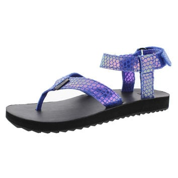 Teva Womens Leather Iridescent Thong Sandals