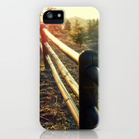 sunny fence iPhone Case by Alice C. | Society6