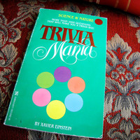 Vintage Book Trivia Mania Science and Nature by by cutandchic