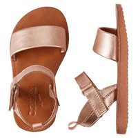OshKosh Rose Gold Strappy Sandals