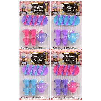 Bulk Plastic Toy Tea Sets, 14 pc. at DollarTree.com