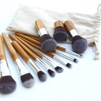 11-pcs Bamboo Stalk Make-up Brush = 4831000900